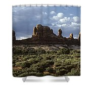 Arches National Park Sunrise Rock Formations  Shower Curtain