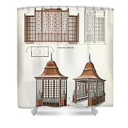 Architecture In Wood, C.1900 Shower Curtain