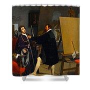 Aretino In The Studio Of Tintoretto Shower Curtain