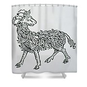 Aries An Illustration From The Poeticon Shower Curtain