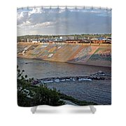 Arkansas River Walk Shower Curtain