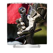 Armory At Hand Shower Curtain