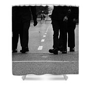 Arriving Soldiers  Shower Curtain