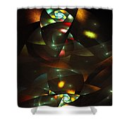Art Deco Feeling Shower Curtain