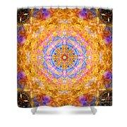 Sun Sparkle Mandala  Shower Curtain