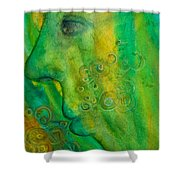 As He Walks He Breathes In The Trees Shower Curtain
