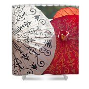 Asian Umbrellas Shower Curtain