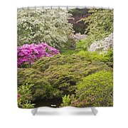 Asticou Azelea Garden - Northeast Harbor - Mount Desert Island - Maine Shower Curtain