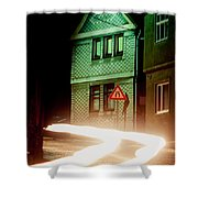 At Night In Thuringia Village Germay Shower Curtain