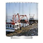 At The Cobb -- Lyme Regis Shower Curtain