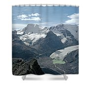 T-303504-athabasca Glacier In 1957 Shower Curtain