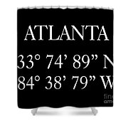 Atlanta Coordinates Shower Curtain