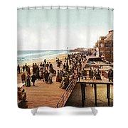 Atlantic City Boardwalk 1900 Shower Curtain