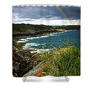 Atlantic Coast In Brittany Shower Curtain