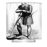 Attila (c406-453) Shower Curtain