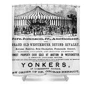 Auction Advertisement Shower Curtain