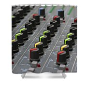 Audio Mixing Board Console Shower Curtain