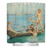 August Blue Shower Curtain