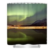 Aurora Borealis Over Nares Lake Shower Curtain