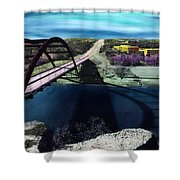 Austin 360 Bridge Shower Curtain