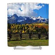 Autumn Fences Shower Curtain
