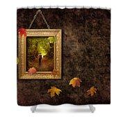 Autumn Frame Shower Curtain