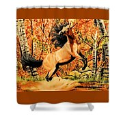 Autumn Frolick Shower Curtain