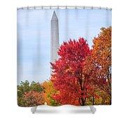 Upward - Autumn High Shower Curtain