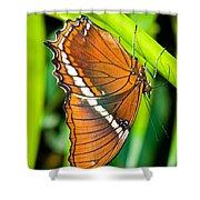 Autumn Leaf Butterfly Shower Curtain