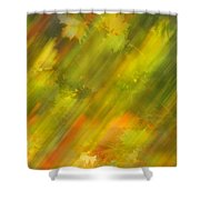 Autumn Leaves On The Abstract Background Shower Curtain