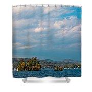 Autumn On Lake George Shower Curtain
