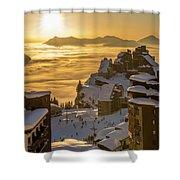 Avoriaz At Sunset Shower Curtain