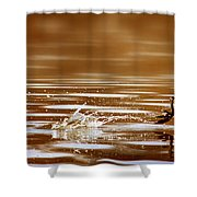 Away Quickly Shower Curtain