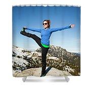 Backcountry Yoga Shower Curtain