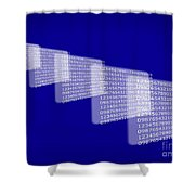 Background Numbers Shower Curtain