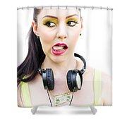 Bad Taste In Music Shower Curtain