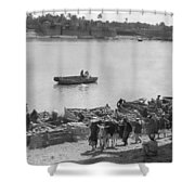 Baghdad Tigris River, 1932 Shower Curtain
