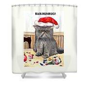 Bah-humbug Shower Curtain