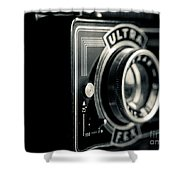 Bakelite Vintage Camera Shower Curtain