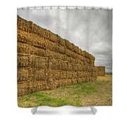Bales Of Hay On Farmland 4 Shower Curtain