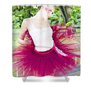 Ballerina Stretching And Warming Up Shower Curtain