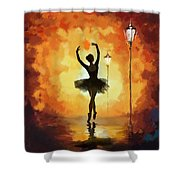 Ballet Dancer Shower Curtain