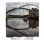 Baltic And Gateshead Millennium Bridge Shower Curtain