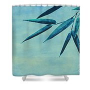 Bamboo - Blue Shower Curtain