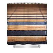 Bamboo Mat Texture Shower Curtain