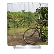 Banana Bike Shower Curtain