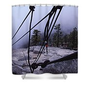 Bandaloop Dance Company, Yosemite, Ca Shower Curtain