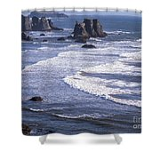 Bandon Beach Seastacks 4 Shower Curtain