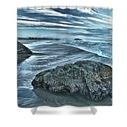 Bandon Beach Swirls Shower Curtain