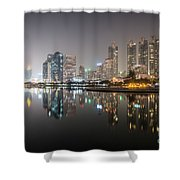 Bangkok By Night Shower Curtain